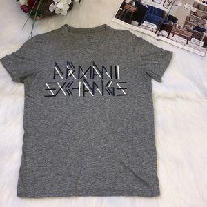 ARMANI EXCHANGE Gray T-shirt-size XS